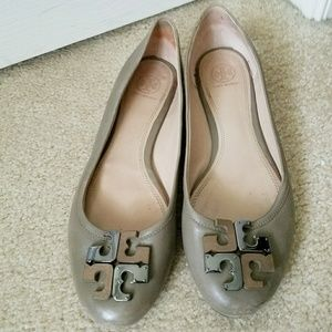 Tory Burch Leather Flats Size 10